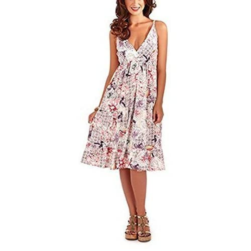 Pistachio, Ladies Cross Front Floral Summer Holiday Dress, Multiple Colours