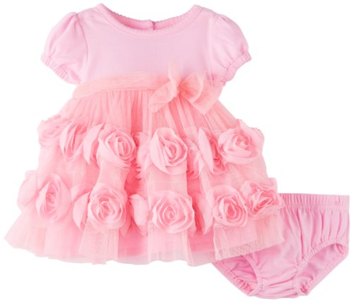 Nannette Baby-girls Newborn 2 Piece Knit Dress And Panty, Pink, 3-6 Months
