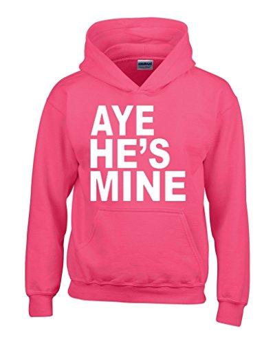 Aye He'S Mine Unisex Hoodie Couple Sweatshirts Medium Heliconia Pink
