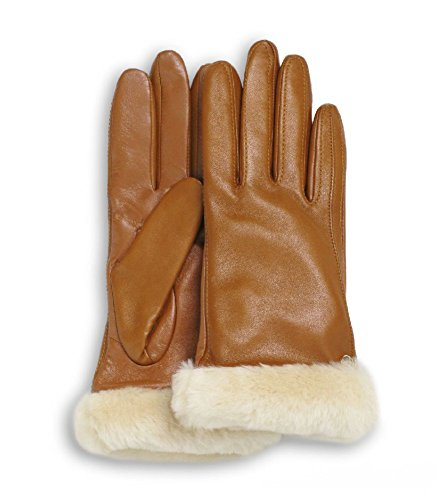 UGG Australia Classic Leather Smart Glove Chestnut Size Small (Made In Usa Leather Gloves compare prices)