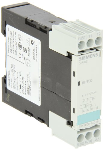 Siemens 3Rn1000-1Ag0 0 Thermistor Motor Protection Relay, Screw Terminal, Compact Evaluation Units, 1 Led, 22.5Mm Width, Auto Reset, 1 Co Contacts, 110Vac Control Supply Voltage