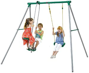 Plum Helios II Outdoor Play Metal Garden Swing Set