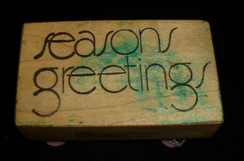 Seasons Greetings Rubber Stamp - 1