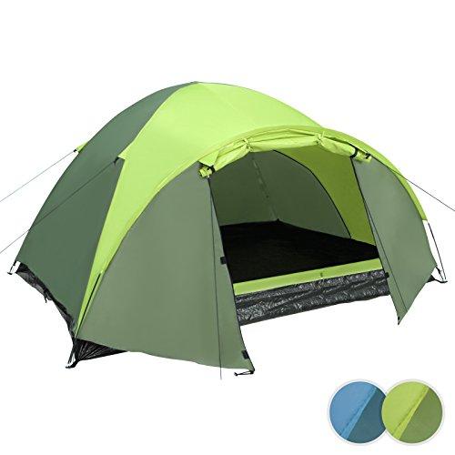 Jago-Tunnelzelt-Familienzelt-Campingzelt-Hauszelt-fr-3-Personen-inkl-Zubehr-in-2-verschiedenen-Farben