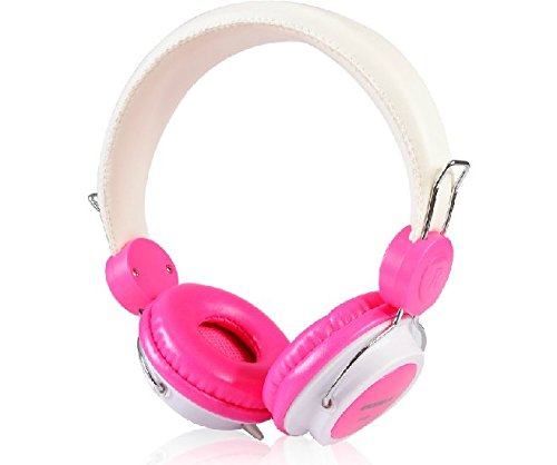 RED BAT E523 PC Gaming Headset, cuffie stereo HD, Over-Ear isolamento del rumore Cuffie Con In-Line Controllo del volume del microfono, microfono flessibile per gioco per computer, tablet, iPhone, iPad, iPod, smartphone, computer portatile e MP3 (Rosa)