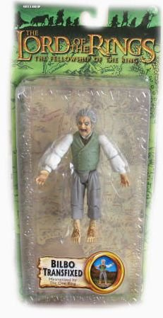 Lord of the Rings Trilogy Fellowship of the Ring Action Figure Series 4 Bilbo Transfixed Mesmerized by the One Ring - 1