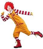 マクドナルド マック コスプレ衣装 コスチューム ハロウィン仮装 衣装 ハロウィーン クリスマス 変身コスプレ Ronald McDonald cosplay Happy-Online (M)