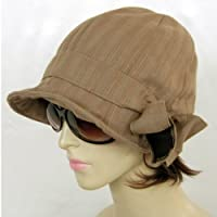 リボン りぼん 綿 ワークキャップ コットン 夏帽子 WORK CAP-1344