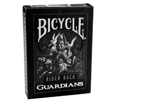 Theory11 Bicycle Guardian Playing Cards (Black, 3.5 x 2.5-Inch)