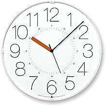 Lemnos CARA 電波時計 ホワイト(オレンジ針)