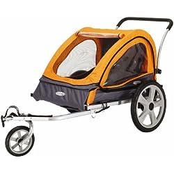 InStep Quick N EZ Double Bicycle Trailer (Orange/Gray)
