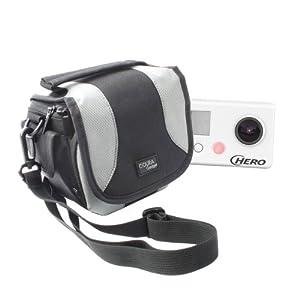 Top Gadgets Padded Camera Bag With Shoulder Strap & Zip Pockets For Go Pro 3 (Black, White & Silver Edition) & GoPro Hero HD Head Cams (Helmet Hero, Motorsports Hero, Surf Hero)