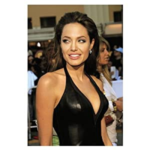 Angelina Jolie Black Leather Dress Glossy Movie Photo Photograph Print