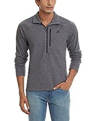 adidas Men's Turtleneck Polyester SweatShirt (4055342723519_AA1911_XX-Large_Black)