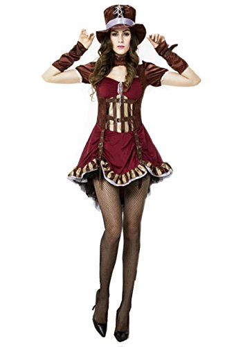 NonEcho Women's Sexy Gothic Queen Halloween Costume Cruise Outfit