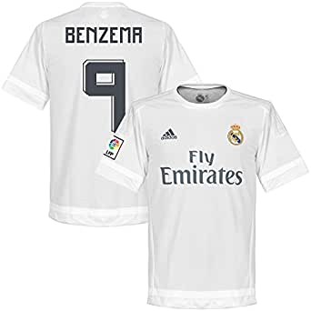 Amazon.com : Real Madrid Home Benzema Jersey 2015 / 2016 (Official