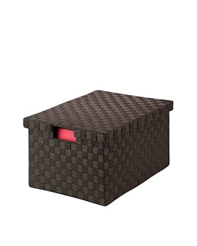 Honey-Can-Do Large Woven File Box, Espresso