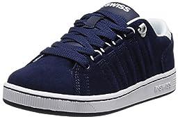 K-Swiss Lozan Suede PS Tennis Shoe (Little Kid),Navy/White,2 M US Little Kid