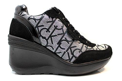 Calvin Klein Jeans RE9648 Sneakers Scarpe Donna Casual Sportive Zeppa (38)