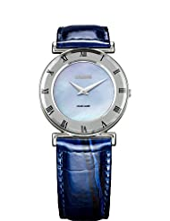 Jowissa Women's J2.059.M Roma MoL Blue Mother-of-Pearl Roman Numerals Leather Watch