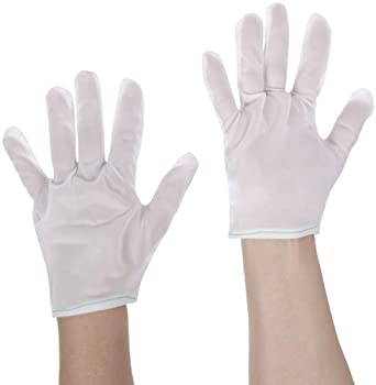 "Protective Industrial 98-740/L Nylon Tricot Two Piece Economy Style Men's Glove Liner, 9-3/32"" Length, Large, White (Pack of 12)"