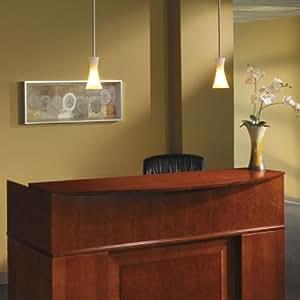 TIFSRCSCR - Sorrento Reception Desk Screen With Veneer Counter