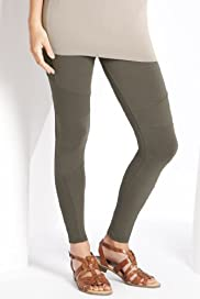Cotton Rich Panelled Ankle Length Biker Leggings [T54-8107A-S]