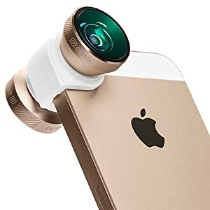 Olloclip 4-IN-1 Photo Lens for iPhone 5/5s + Quick-Flip Case, White Case / Gold Lens