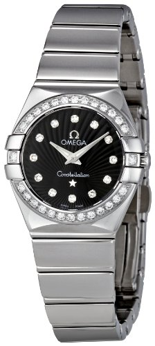 Omega Women's 123.15.24.60.51.002 Black Dial Constellation Watch