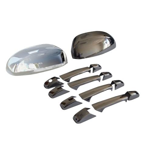 Chevy Avalanche Tahoe Suburban Silverado GMC Yukon Sierra Chrome Door Handle Mirror Covers Combo Package 2007 2012