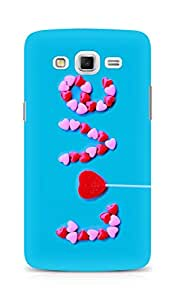 Amez designer printed 3d premium high quality back case cover for Samsung Galaxy Grand 3 (Love Text)