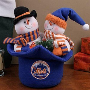 MLB 3 Plush Snowmen Plush Top Hat MLB Team: New York Mets at Amazon.com