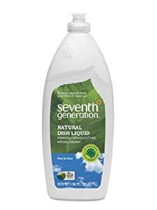 Seventh Generation Dish Liquid, Free & Clear, 25-Ounce Bottles (Pack of 6) Packaging May Vary