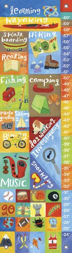 Oopsy Daisy Active Boy by Donna Ingemanson Growth Charts, 12 by 42-Inch