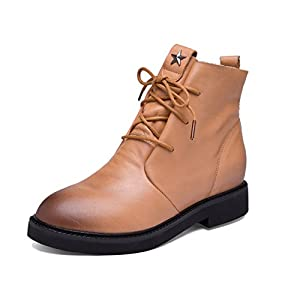 Autumn and winter leather womens boots/High casual boots-C Foot length=22.3CM(8.8Inch)