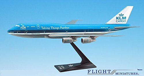 KLM Cargo (73-03) 747-300 Airplane Miniature Model Plastic Snap Fit 1:250 Part# ABO-74730I-006 (Klm Model Plane compare prices)