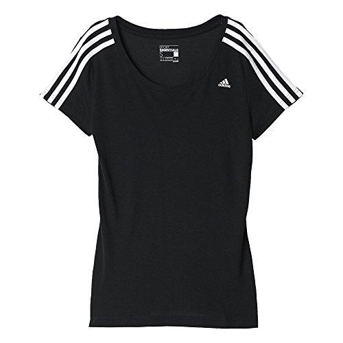 Adidas Ess 3S Tank, Tank Top per Donna, Nero/Bianco (Nero/Bianco), L