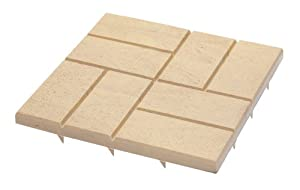 Emsco Group 2156 Poly Patio Pavers Natural Sand 16-Inch x 16-Inch - 24 Pack (Discontinued by Manufacturer)