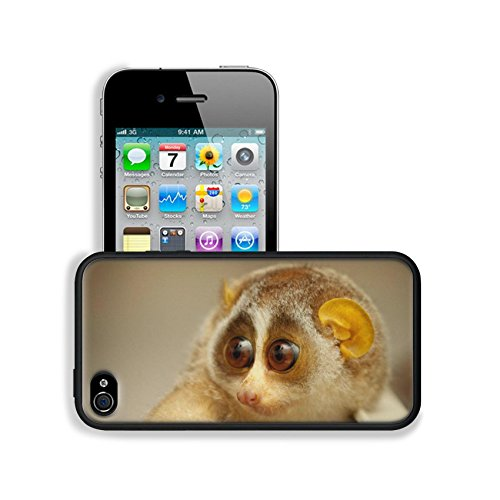 Baby Sunda Slow Loris Animal Apple Iphone 4 / 4S Snap Cover Premium Leather Design Back Plate Case Customized Made To Order Support Ready 4 7/16 Inch (112Mm) X 2 3/8 Inch (60Mm) X 7/16 Inch (11Mm) Luxlady Iphone_4 4S Professional Cases Touch Accessories G front-1059093