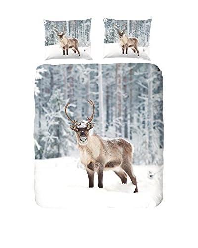 GOOD MORNING Bettwäsche Deer grau