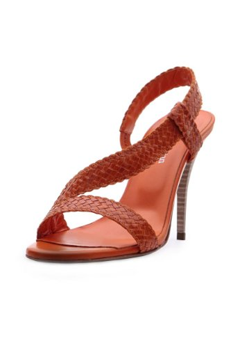 Stephane Kélian High Heeled Sandal SNAKE LOOK, Color: Orange