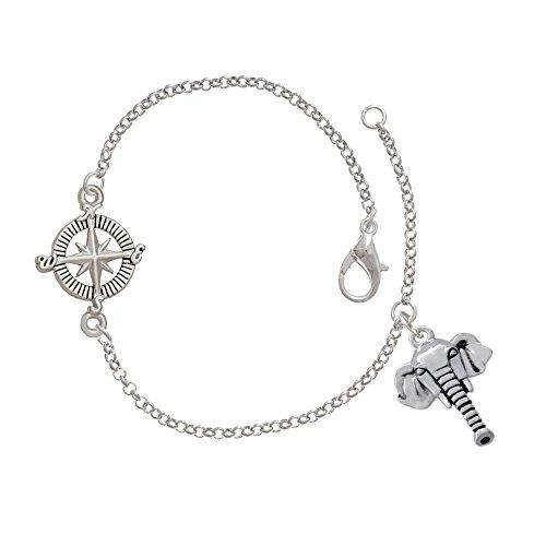 Elephant Head Delicate Compass Bracelet
