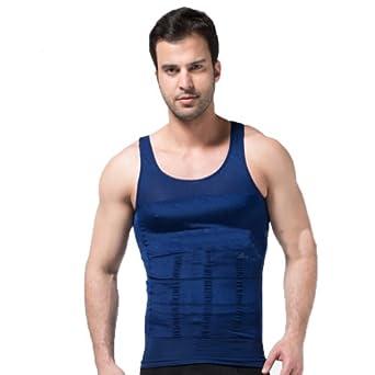 Mens Body Shaper Vest Blue by ZEROBODYS