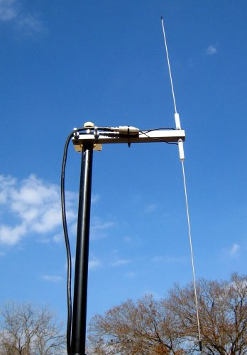 Outdoor Long Range Weather Radio Dipole Antenna With 25' Coax And Bnc Connector