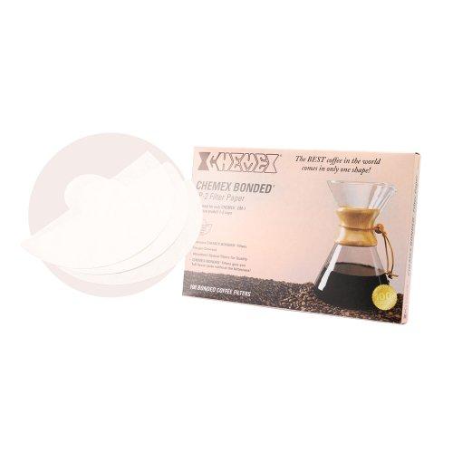 Chemex ケメックス コーヒーメーカー フィルターペーパー 3カップ用 ボンデッド 100枚入 濾紙 FP-2 並行輸入品