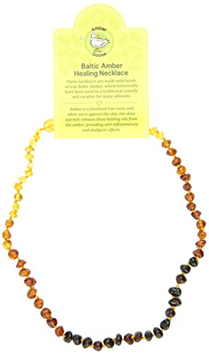 "Momma Goose Teething Necklace, Rainbow, 15"" - 1"