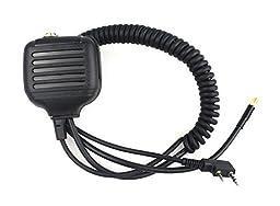 IFeng® Shoulder Speaker Mic with Antenna for Walkie Talkie Two Way CB Ham Radio Kenwood Radio KPG70D KPG74D KPG75D KPG77D TH31AT TH31BT TH41AT TH41BT BAOFENG UV5R BF-480 BF-320 BF-V6