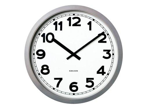 Karlsson Wall Clock Giant XXXL Numbers, Metal/Silver, 1 Metre = 3.28`foot = 39.4