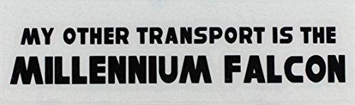 C&D Visionary Star Wars My Other Car Rub-On Sticker, Black - 1