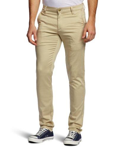 Monkee Genes Fit Lightweight Chino Slim Men's Trousers Buff W36INxL33IN